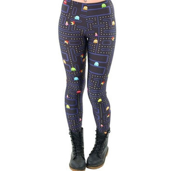 Women Space Print Pants Fitness Legging Muz-man PAC-MAN LEGGINGS Woman Leggings High Quality Digital Printing Fitness Leggins [8833452108]