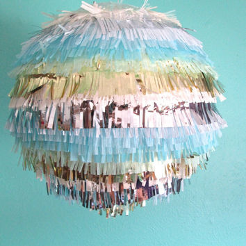 Lollipop Fringe Lantern in Pacific Coast Sparkle (16inch)
