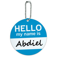 Abdiel Hello My Name Is Round ID Card Luggage Tag