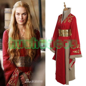 halloween costumes for women game of thrones Cersei Lannister disfraces carnava cosplay costume