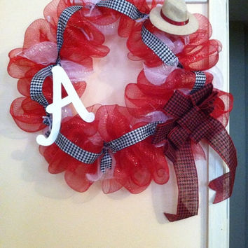 "20"" Roll Tide Roll Bama Wreath, Alabama Wreath, Alabama Football Wreath, Colligate Wreaths"