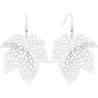 Spikes Womens 316L Surgical Stainless Steel Laser Cut Maple Leaf Dangle Earring | Body Candy Body Jewelry
