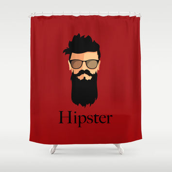 Hipster Shower Curtain by Tony Vazquez