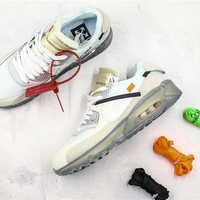 Nike The 10 Air Max 90 X OFF-WHITE OW AA7293 100