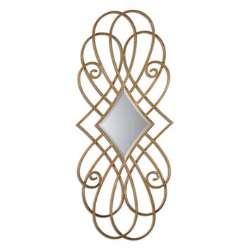 Lilou Antiqued Gold Leaf Decorative Wall Mirror by Uttermost