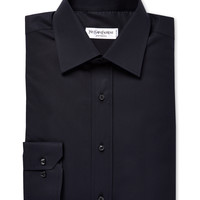 Yves Saint Laurent Pour Homme Men's Solid Cotton Dress Shirt - Black