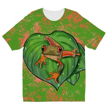 Tree Frog Designs by Amitie Kids Sublimation TShirt