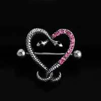 New Charming Dangle Crystal Navel Belly Ring Bling Barbell Button Ring Piercing Body Jewelry = 4804871172
