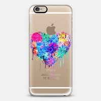Floral Heart iPhone 6 case by Danielle Foye Art © | Casetify
