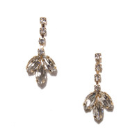 Crystal Petals Drops | Jeweliq Fashion Earrings
