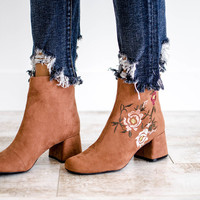 National Park Embroidered Ankle Boot