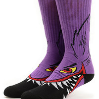 Volcom M French Purple Crew Socks