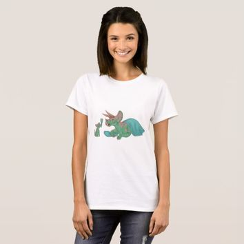 Triceratops Giving Flowers T-Shirt