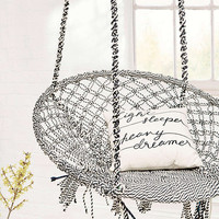 Marrakech Black and White Swing Chair - Urban Outfitters