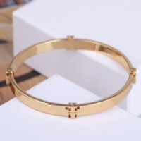 Tory Burch New fashion metal women bracelet accessories Golden