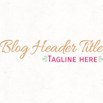 Blog header design template | Business Professional Logo | instant download | digital download | psd file | DIY