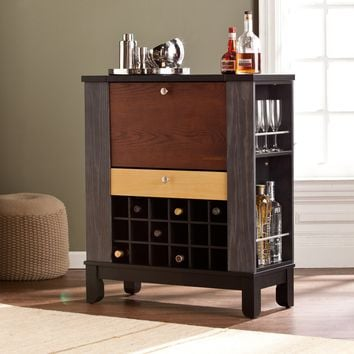 Harper Blvd Avalon Wine/ Bar Cabinet (Color: Black)