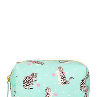 FOREVER 21 Cats & Dots Cosmetic Bag