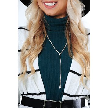 On Point Necklace: Silver/Multi