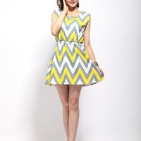 Elegant Geometric Figure Rhinestone Mixing Color Dress