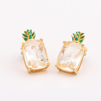 womens pineapple pattern earring summer fashion style lovely women and men gift