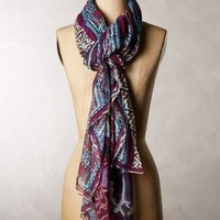 Moonfleet Scarf by Anthropologie Blue One Size Scarves