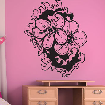 Vinyl Wall Decal Sticker Water Cherry Blossom #1446