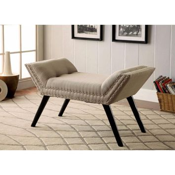 Wesby Contemporary Bench, Ivory By Furniture Of America