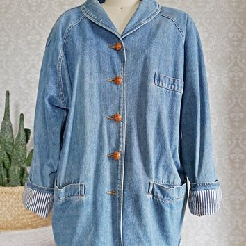 Vintage 1980s Denim + Chore Jacket