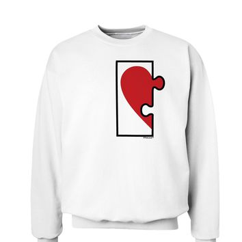 Couples Heart Puzzle Sweatshirt - Left Piece or Right Piece