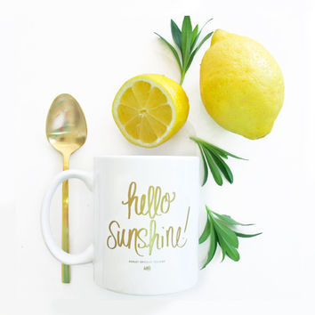 ASHLEY BROOKE DESIGNS: Hello Sunshine Coffee Mug