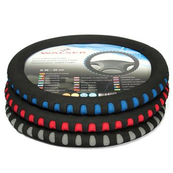 38cm EVA Punching Universal Car Volante Steering Wheel Cover Automotive 3 Colors for Choice High Quality