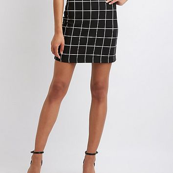 Window Pane Skirt | Charlotte Russe
