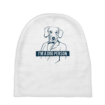 dog person Baby Beanies