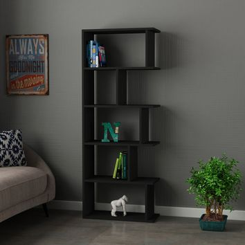 Regis Anthracite Bookcase