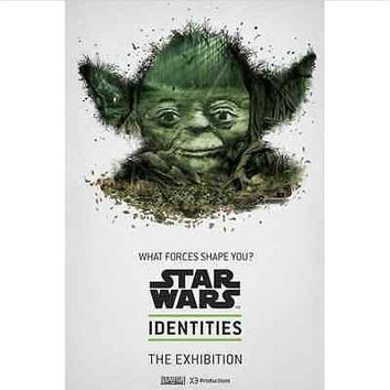Incredible STAR WARS IDENTITIES Unique Home Wall Poster Grand Master Yoda