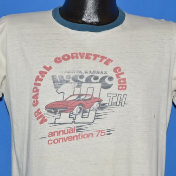 70s Air Capital Corvette Club 1975 Ringer t-shirt Medium