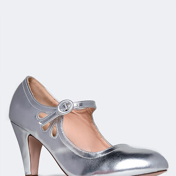 Mary Jane Kitten Heel Pumps