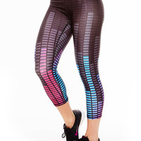 Womens Audio Levels Performance Capri Leggings