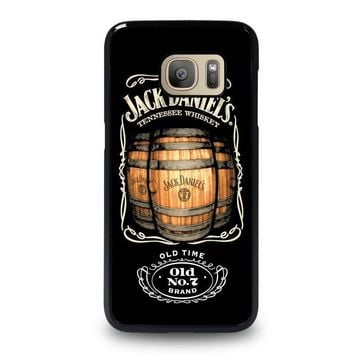 jack daniels samsung galaxy s7 case cover  number 1