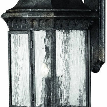 "0-001657>32""h Regal 4-Light Extra-Large Outdoor Wall Lantern Black Granite"