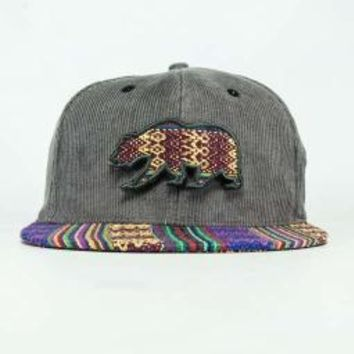 Bear Collection Velcro Bear Andes Strapback Grey : Grassroots Californ...
