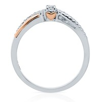 I Am Loved® 1/10 ct. tw. Diamond Promise Ring in Sterling Silver & 14K Gold