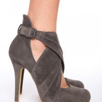 Velvet Wrap Platform - Gray | NASTY GAL | Jeffrey Campbell shoes, Evil Twin, MinkPink, BB Dakota, vintage dresses + more!