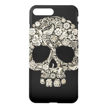 Floral Sugar Skull iPhone 7 Plus Case