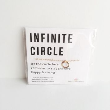 Infinite Circle - Handmade 14k Gold Filled Necklace