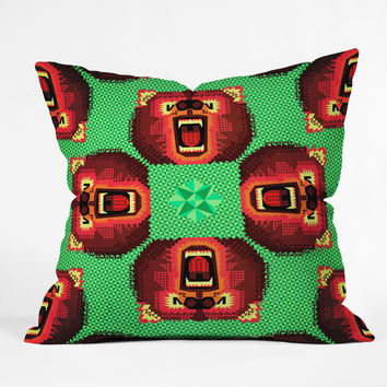 Chobopop Geometric Bear Throw Pillow