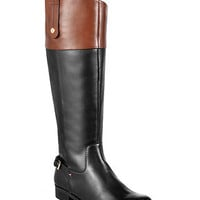 Tommy Hilfiger Hamden Wide Calf Tall Riding Boots