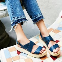 Free People Sun Dried Flatform Sandal