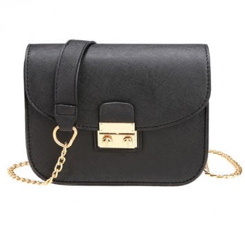 New Fashion Women Synthetic Leather Mini Chain Handbag Shoulder Bag